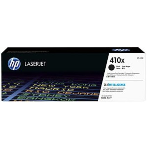 HP 410x Black High Yield Original LaserJet Toner Cartridge - Up to 6500 Pages, JetIntelligence, For Color LaserJet Pro HP M452dn, M452dw, M452nw, MFP M477fdn, MFP M477fdw, MFP M477fnw - CF410X