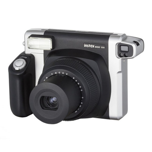 Fujifilm Instax 300 Wide Instant Camera with 10 Shorts of Film - Black/Silver