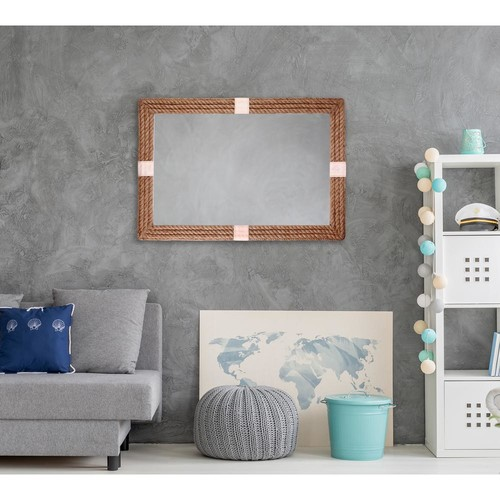 Kenroy Home Roy 42 in. x 28 in. Framed Wall Mirror