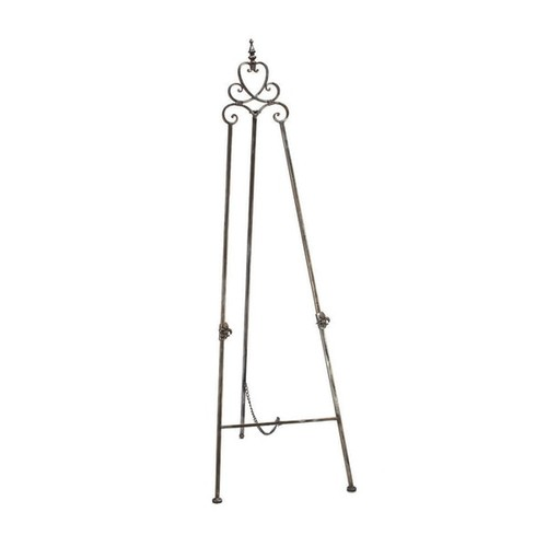 Grey Metal 58-Inch Regal Floor Easel