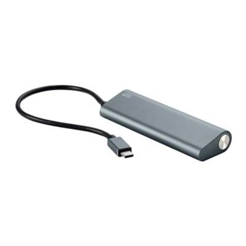 SuperSpeed 4-Port USB-C Hub, Gray