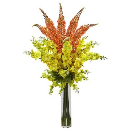 Delphinium & Foxtail Silk Floral Arrangement - Nearly Natural