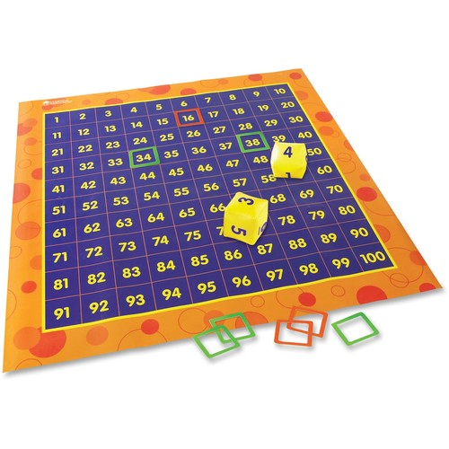 Learning Resources Hip Hoppin Hundreds Mat 4'x4' Multi