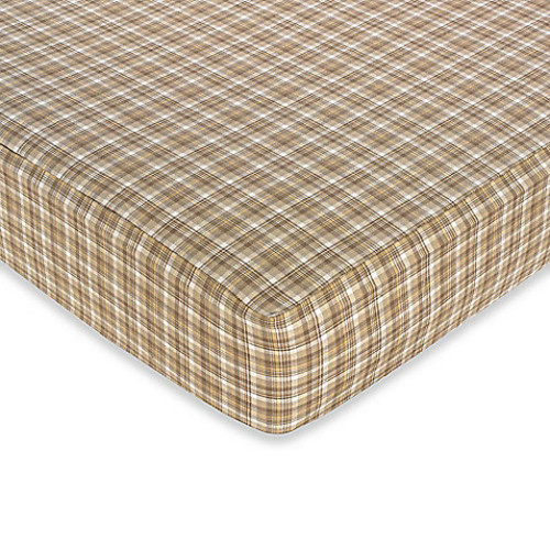 Sweet Jojo Designs Construction Zone Fitted Crib Sheet in Plaid
