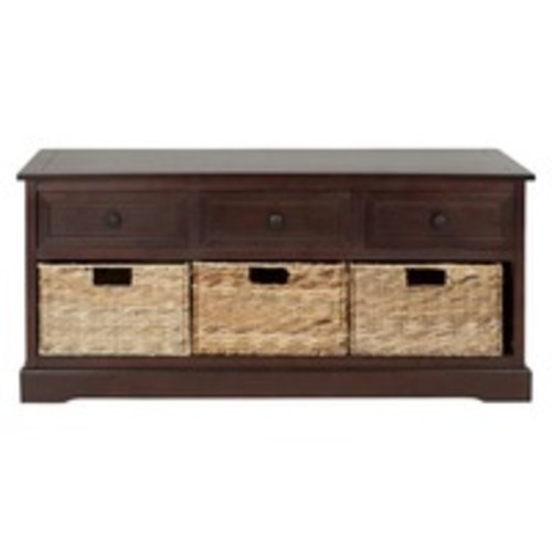 Storage Cabinet Cherry - Safavieh