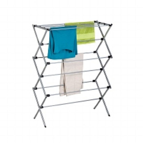 Honey Can Do Oversize Folding Drying Rack Silver Powder Coat