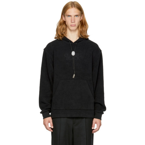 ALEXANDER WANG Black Fleece 'Classic Black' Bolo Tie Hoodie