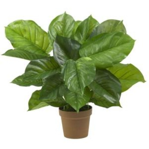 Nearly Natural Real Touch 27 in. H Green Large Leaf Philodendron Silk Plant
