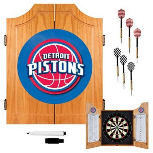 Detroit Pistons NBA Wood Dart Cabinet Set