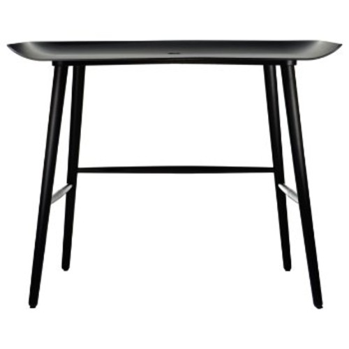Wood Desk [||color : Black Stained]