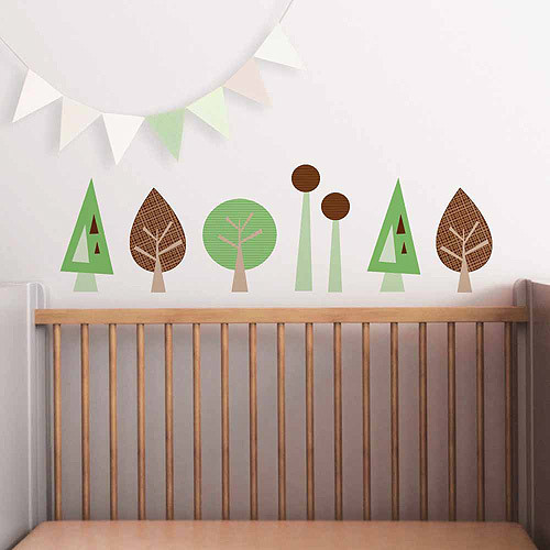 Mini Trees Fabric Wall Decals