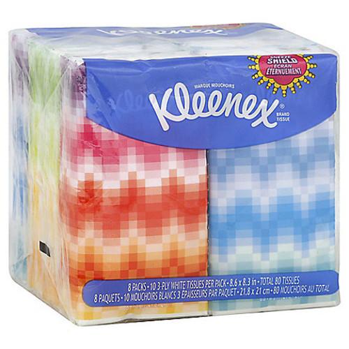 Kleenex Pocket Pack Tissues (8 Pack)