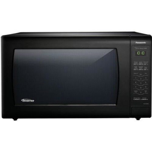 Panasonic 2.2 cu. ft. Countertop Microwave in Black Built-In Capable with Sensor Cooking and Inverter Technology, Black