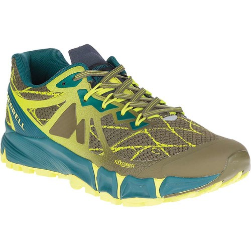 MERRELL Men's Agility Peak Flex Trail Running Shoes, Dark Olive