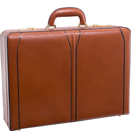 McKlein USA Turner Leather Expandable Attache Case [Brown, One Size]