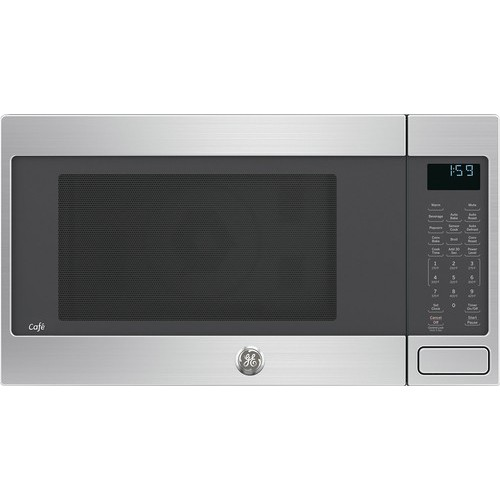 GE - 1.5 Cu. Ft. Mid-Size Microwave - Stainless steel