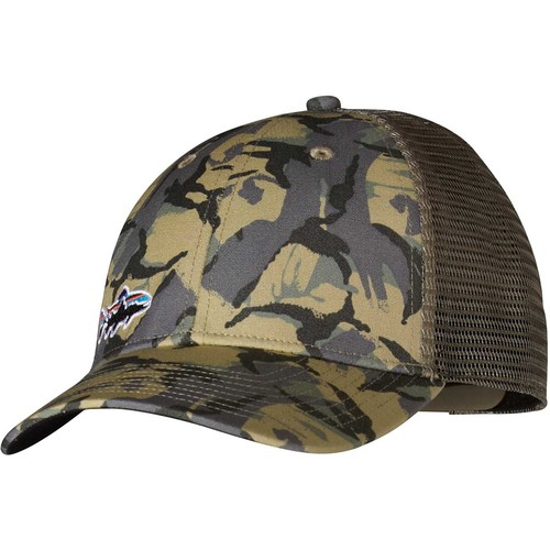 Patagonia Small Fitz Roy Trout LoPro Trucker Hat [Big Camo: Classic Tan-BGCT]