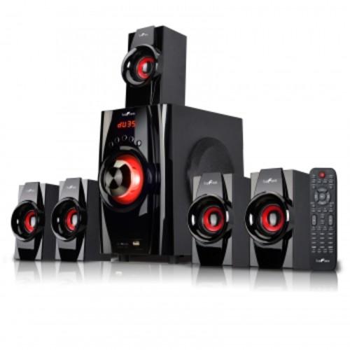 Megagoods, In Befree Sound 5.1 Channel Surround Sound Bluetooth Speaker System- Red