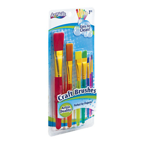 Artskills Craft Brushes, Assorted Colors, Set Of 7
