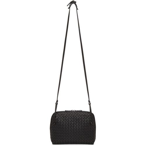 Black Intrecciato Nodini Messenger Bag