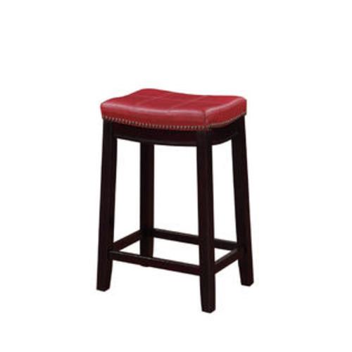 LINON HOME DECOR Claridge Red Counter Stool 55815RED01U