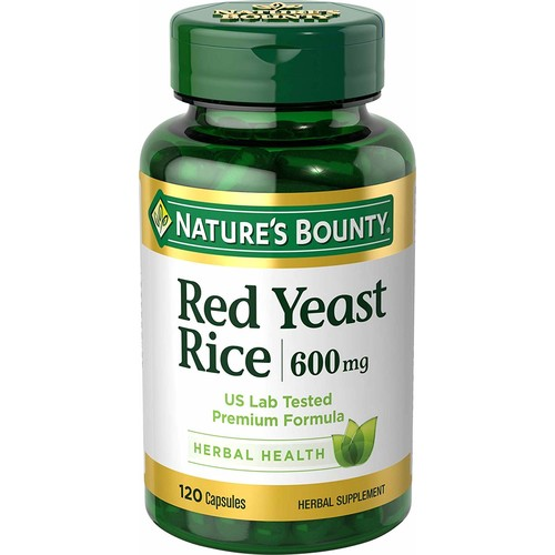 Nature's Bounty Red Yeast Rice 600 mg, 120 Capsules [120 Counts]