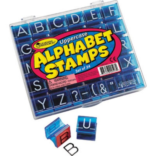 Learning Resources Stamp Sets, Uppercase Alphabet Stamps