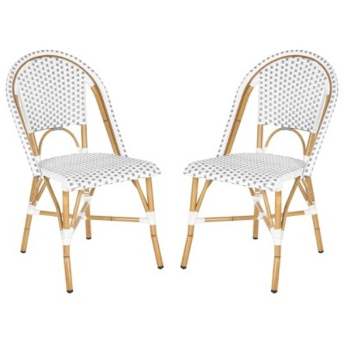 Toulouse 2-Piece Wicker Patio Side Chair Set - Safavieh
