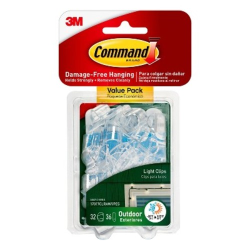 Command Outdoor Clear Light Clips