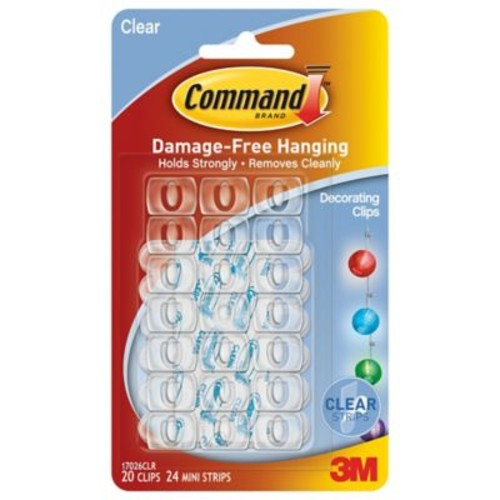 3M Command 20-Pack Clear Decorating Clips