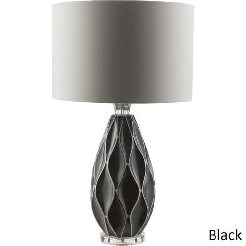 Modern Emmet Table Lamp with Glazed Ceramic Base
