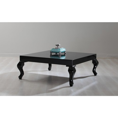 Modern Contemporary Glossy Lacquer Lukens Coffee Table #7190 in black