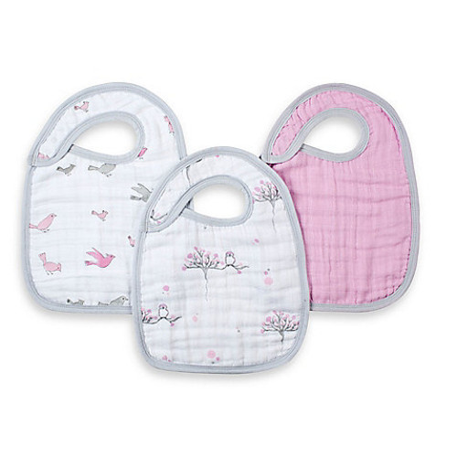 aden by aden + anais 3-Pack Bib Set - For the Birds