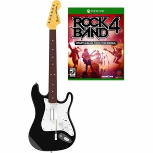 Xbox One Rock Band 4 Wireless Fender Stratocaster Guitar Controller and Software Bundle