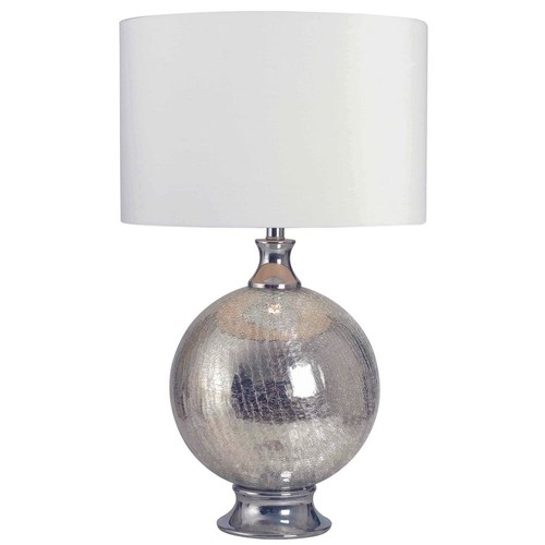 Kenroy Home Caroline 28 in. Table Lamp with white fabric shade