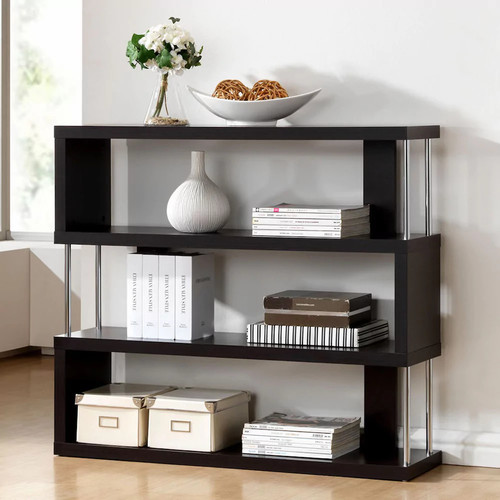 Baxton Studio Barnes 3-Shelf Bookcase