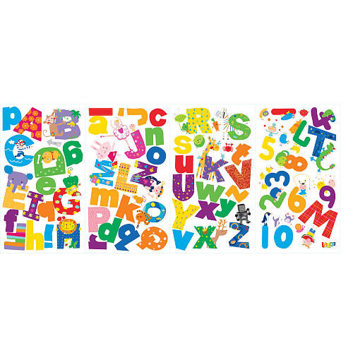 Lazoo Alphabet Peel and Stick Wall Decals