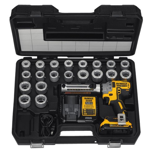 DEWALT 20-Volt MAX XR Brushless Lithium-Ion Cordless Cable Stripper Kit with (1) 2 Ahr Battery, Charger and 20 Bushings