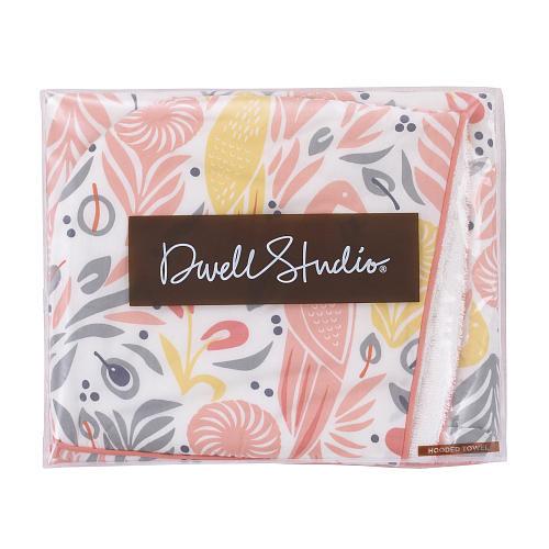 DwellStudio Boheme Printed Percale/Solid Woven Terry Hooded Bath Towel