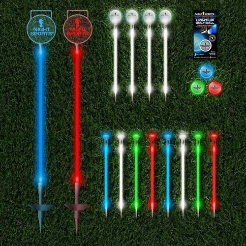 Backyard LED Night Golf Pitch and Putt Set by Night Sports USA