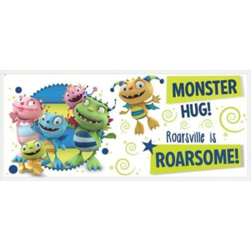 RoomMates 2.5 in. x 21 in. Henry Hugglemonster Family Wall Graphix 11-Piece Peel and Stick Giant Wall Decal