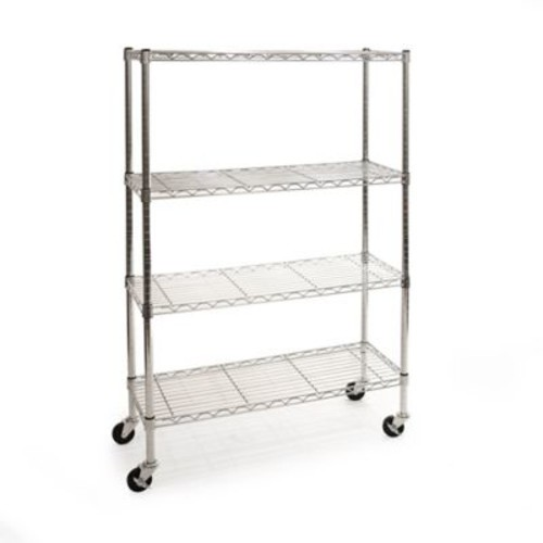 Seville Classics 4-Tier NSF Certified Shelving System in Stainless Steel