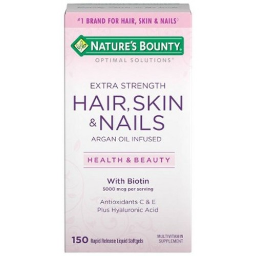 Optimal Solutions Extra Strength Hair Skin and Nails Softgels - 150 Count