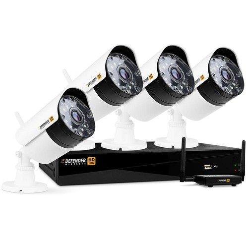 Defender Wireless HD 1080p 4-Channel 1TB DVR Security System with 4-Bullet Cameras