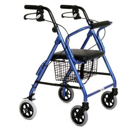 Essential Medical Featherlight Demi 4 Wheel Walker
