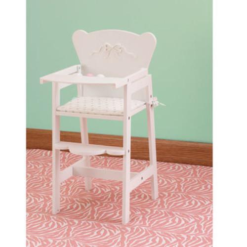 KidKraft Tiffany Bow Wooden Lil Doll High Chair