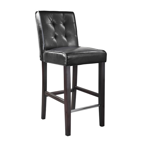 CorLiving Antonio Bar Height Barstool in Bonded Leather [Floor to Seat Height (in.) : 31]