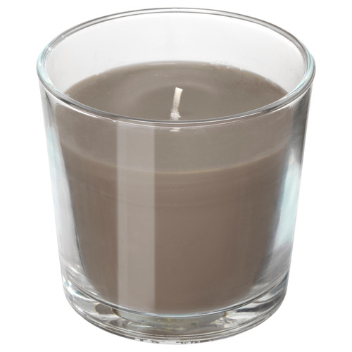 SINNLIG Scented candle in glass, Hazelnut and caramel, brown