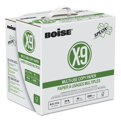 Boise CASSP8420 X-9 SPLOX Multi-Use Copy Paper, 92 Bright, 20lb, 8-1/2x11, White, 2500/CT