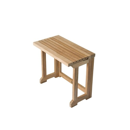 ARB Teak & Specialties 20 in. W Folding Bathroom Shower Seat with Gate Leg in Natural Teak